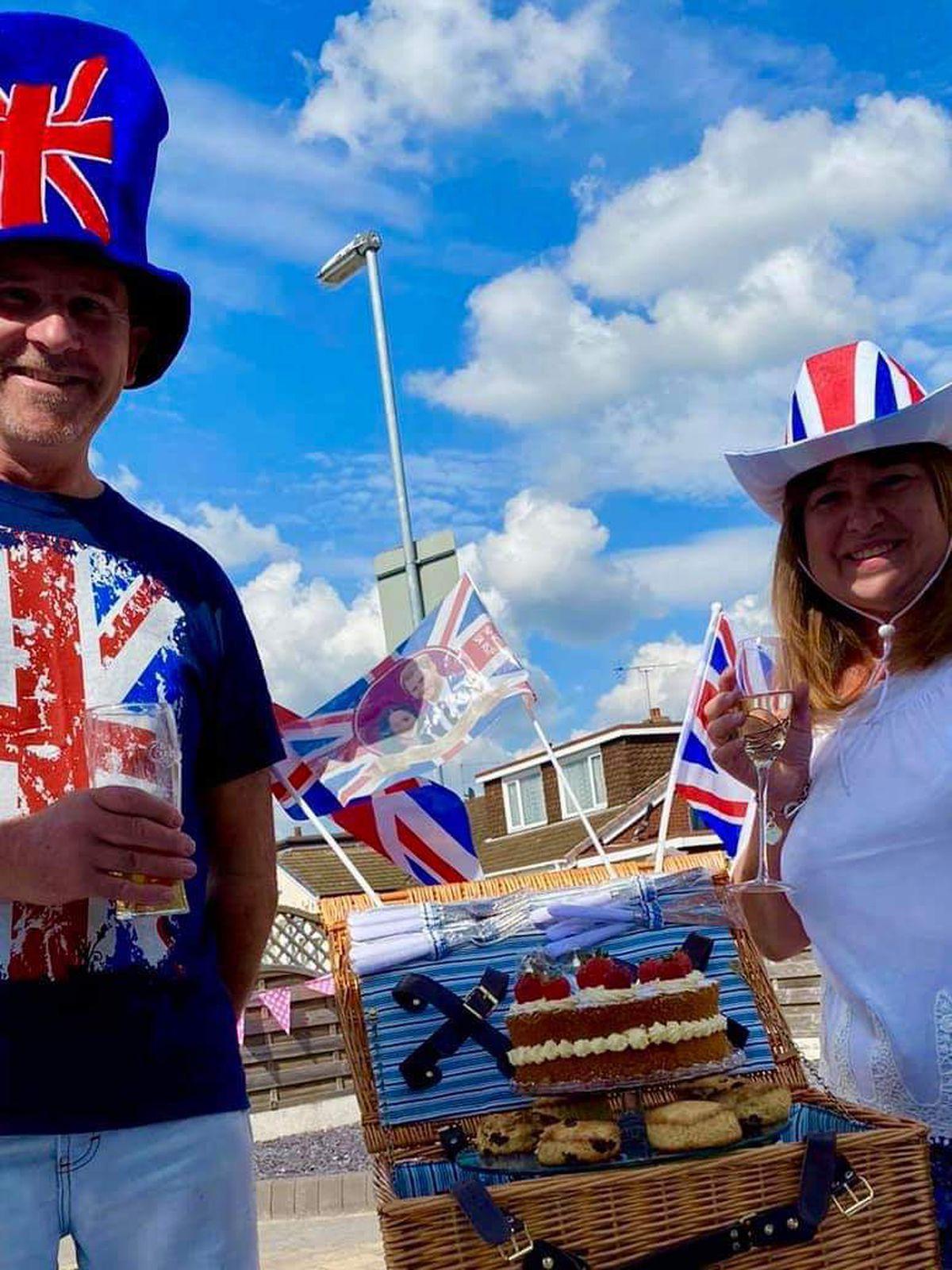 Celebrations in Hut Hill Lane, Great Wyrley