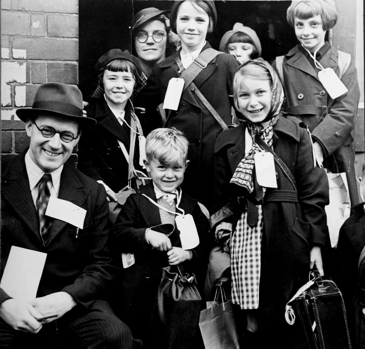 Children evacuated from Smethwick in September 1939
