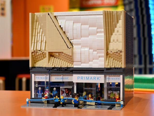 The Primark store has been recreated in Lego.