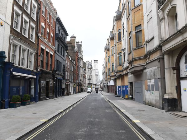 A near-empty Rupert Street in Soho, central London