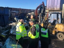 Stolen cars found at Wolverhampton scrap dealer