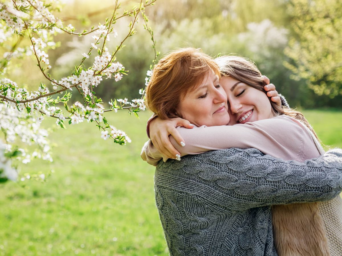Hugging between households is allowed again from Monday, in England at least