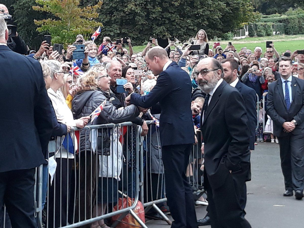 Prince William meets the crowd in Stourbridge Credit: Dudley Council