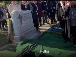 Grandfather pulls viral prank at own funeral