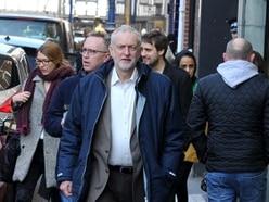 Jeremy Corbyn strolls around Stourbridge on Labour action day