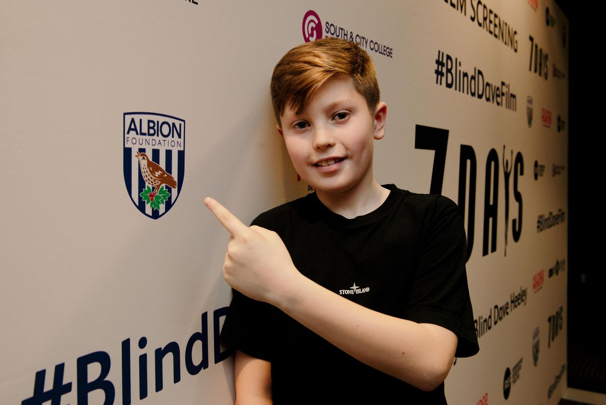 Baggies fan Charlie Boswell played a young Dave in the film