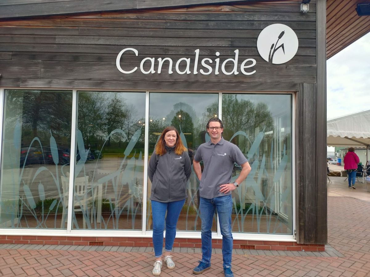 Anna and Geoff Barton at the Canalside Cafe