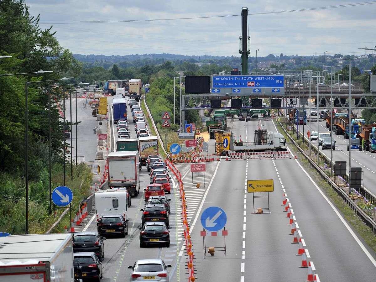 Drivers will again be diverted off the M6 at Junction 10 then rejoin the other side of the roundabout