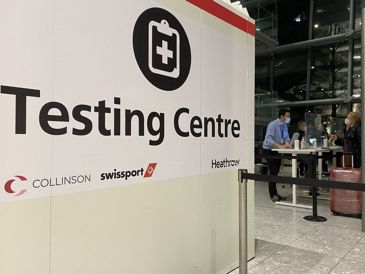 Airport testing centre