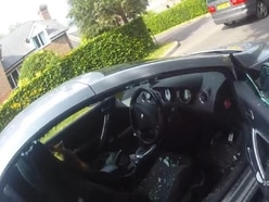 Video: Police smash window to rescue dog from hot car