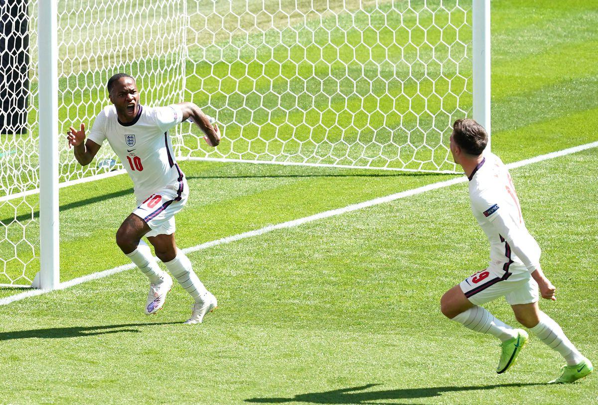 England's Raheem Sterling scored the winning goal against Croatia. Photo: Martin Rickett/PA Wire