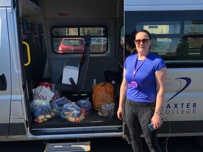 School staff deliver Kidderminster food hampers