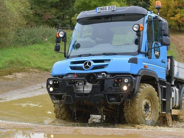 Getting behind the wheel of the iconic Unimog