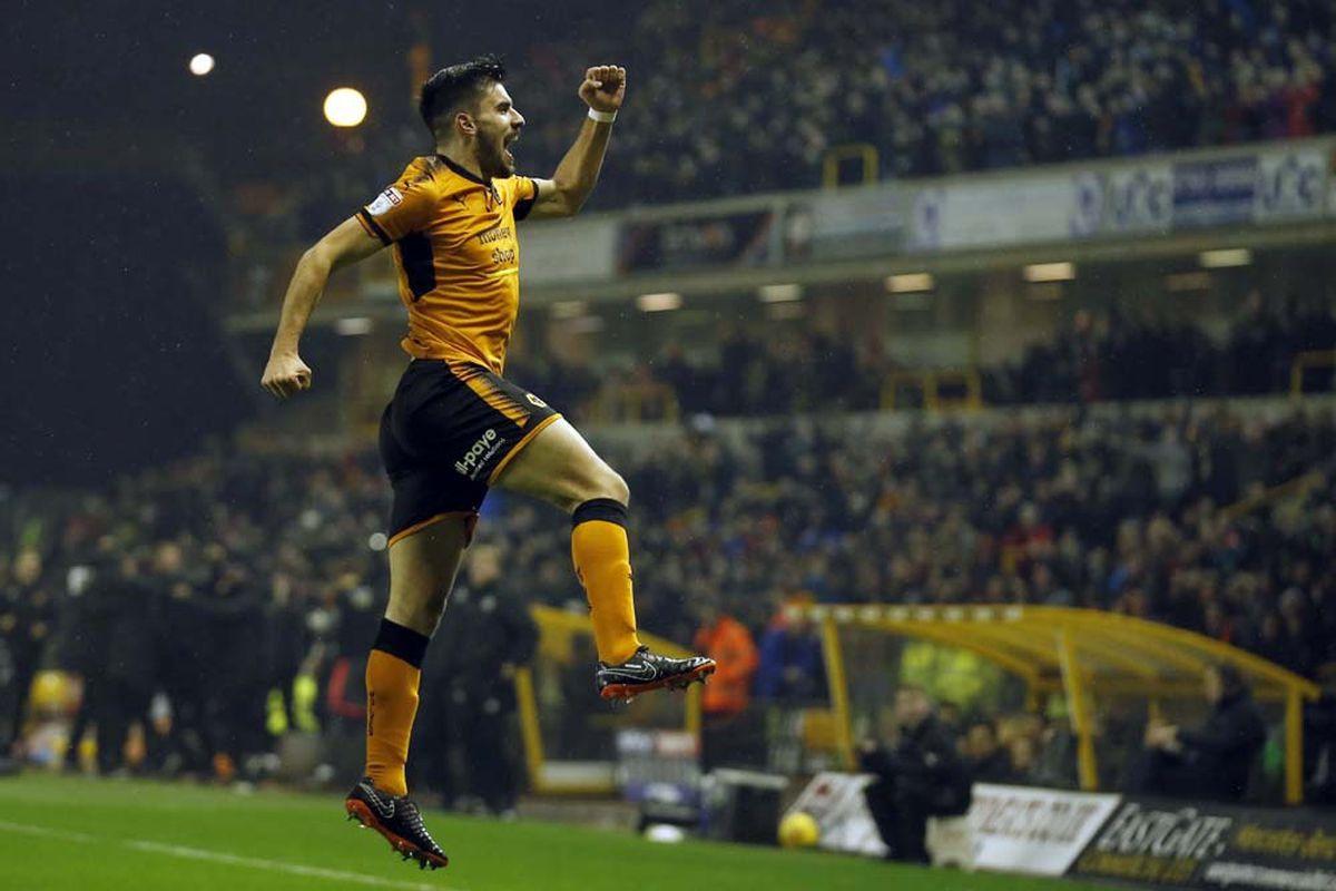 Neves celebrates his wondergoal against Sheffield United (© AMA / Malcolm Couzens)