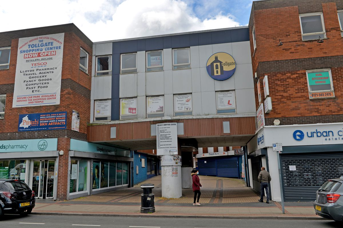 The attack happened in an alleyway near Tollgate Shopping Centre, pictured