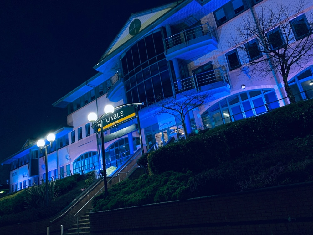 Resonance Music Institute goes blue for NHS