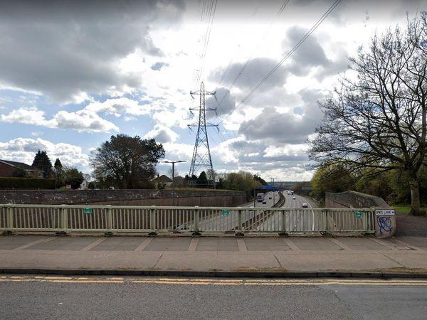 Spies Lane as it crosses the M5 near Halesowen. Photo: Google