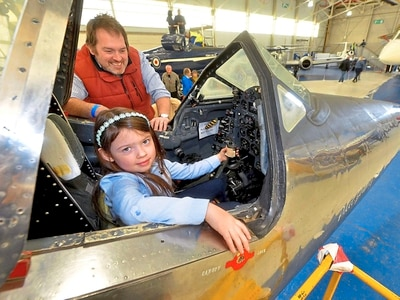 Secrets of the pilot's seat revealed at RAF Cosford open cockpits event