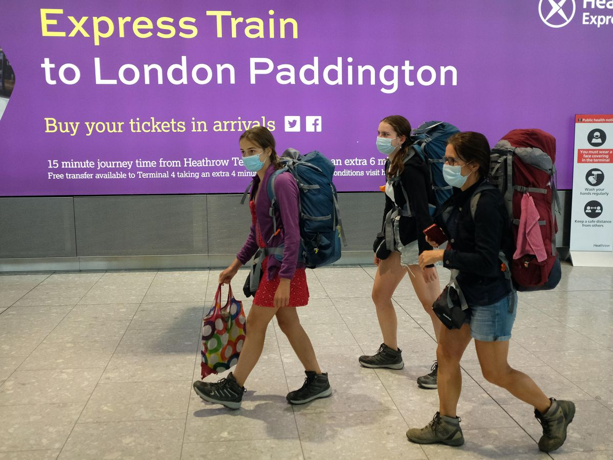 Holidaymakers at Heathrow