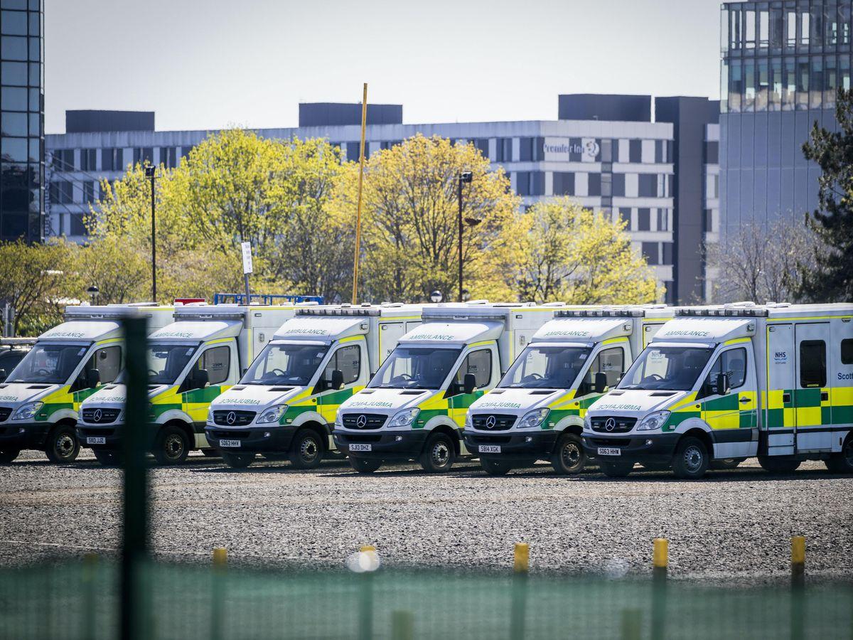 Row of ambulances