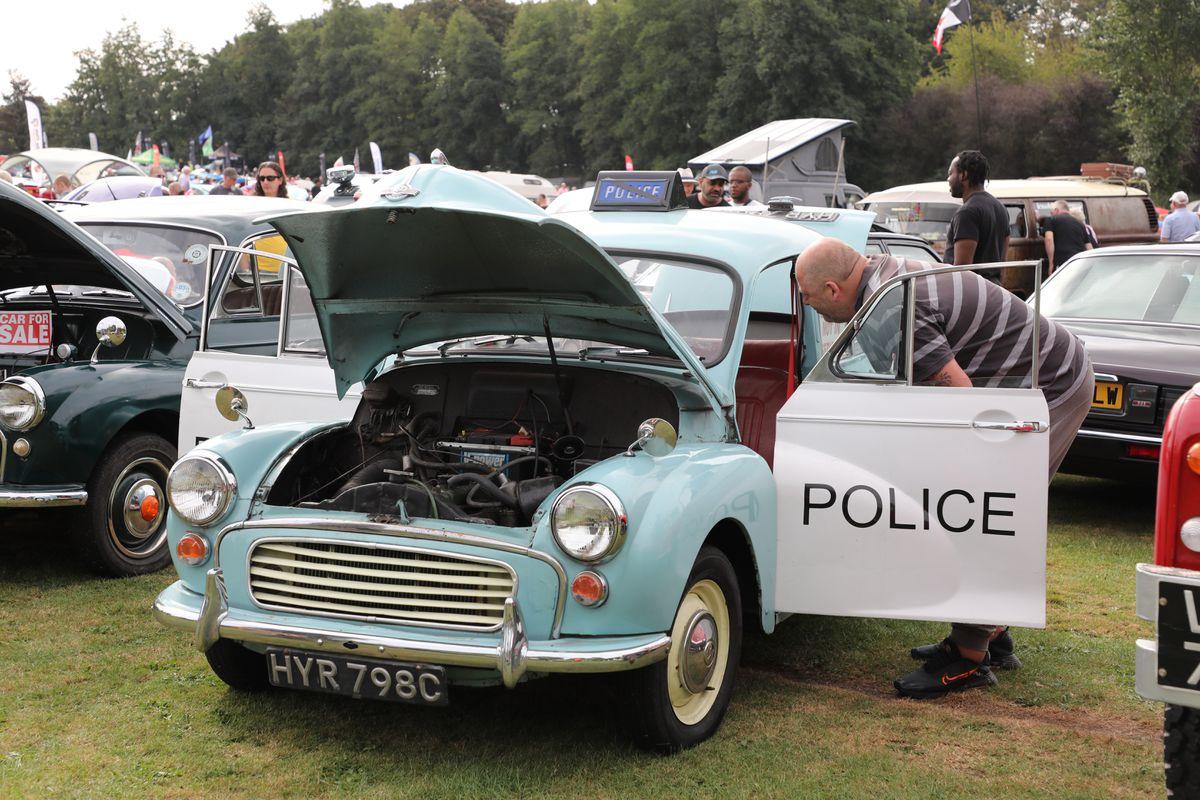 A vintage police car. Photo: Robert Yardley