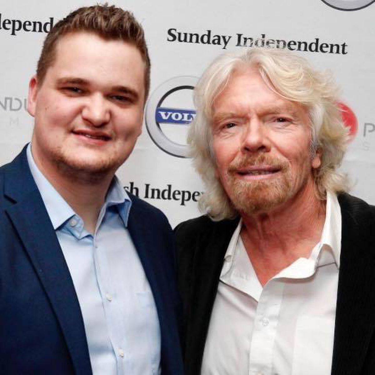 Samuel with Richard Branson