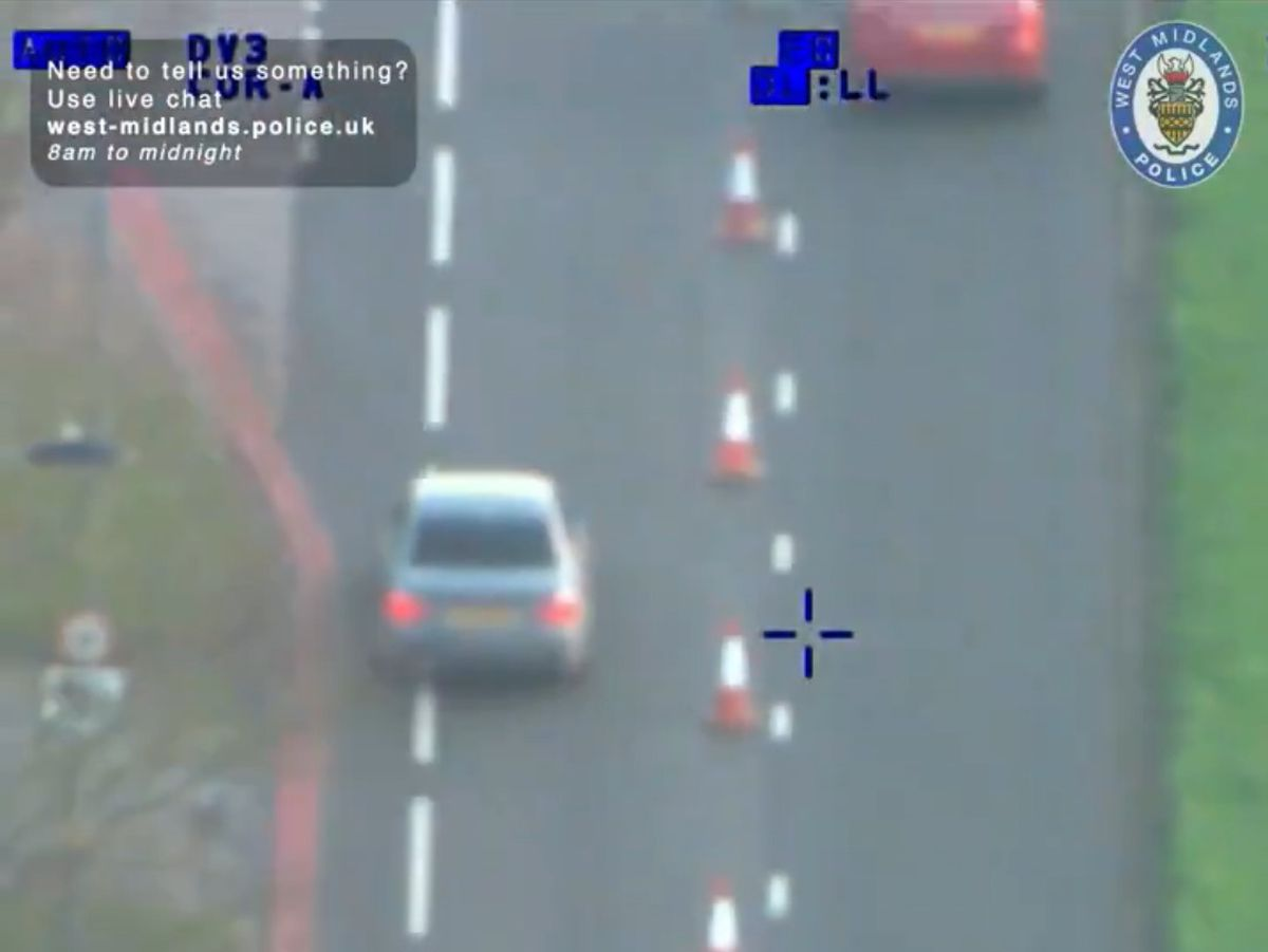 Video footage shows Patrick Connors leading West Midlands Police on a chase around the streets of the region