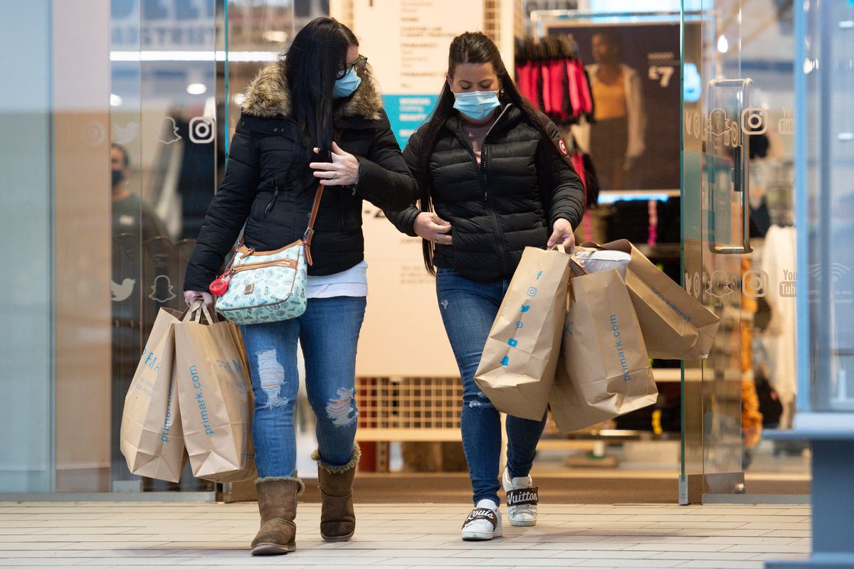 Some of the first shoppers at Primark Birmingham