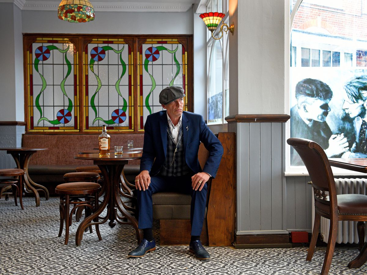 Tony Mckeon is set for the opening of his Peaky Blinders-themed bar The Office in Dudley's Station Hotel
