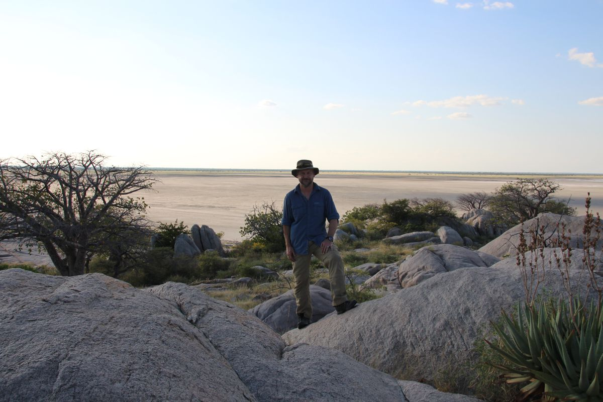 James Whitford out in Botswana