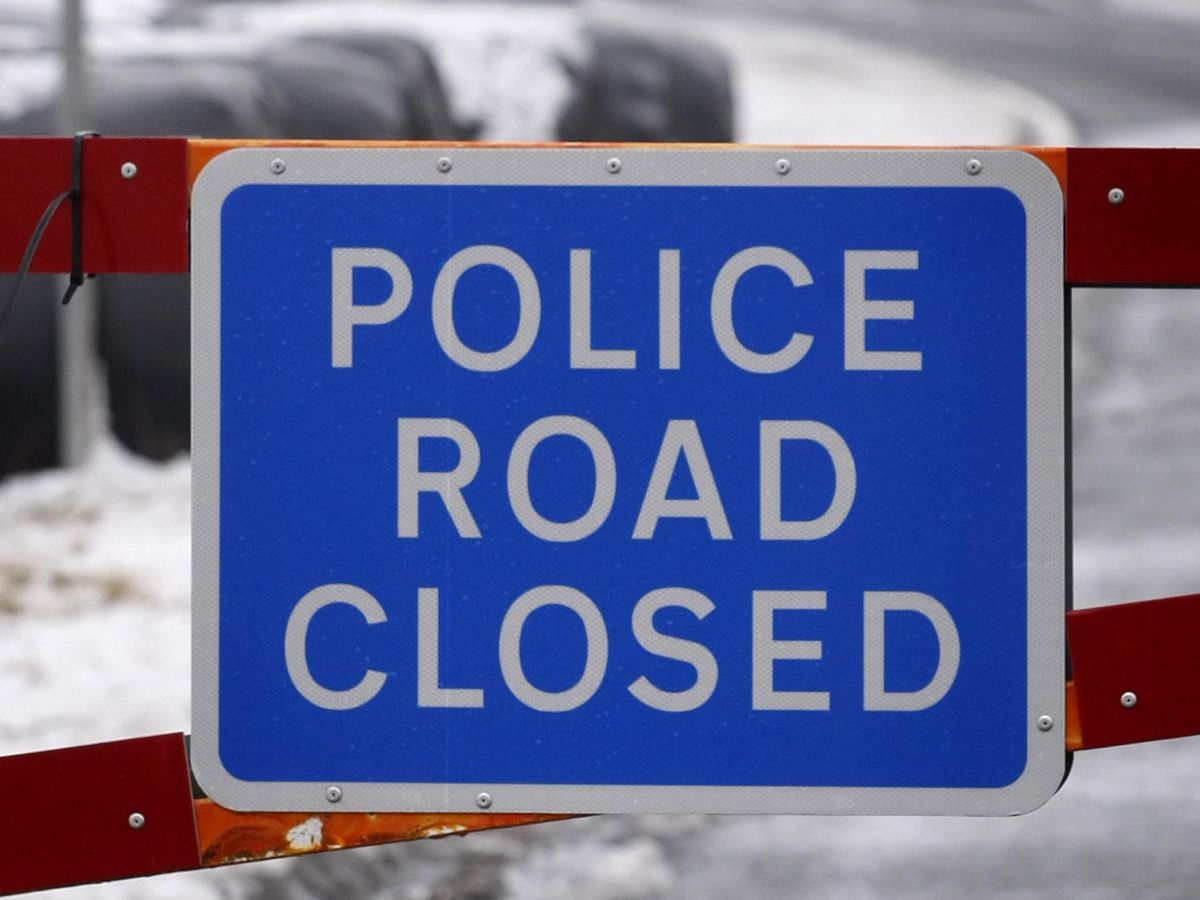 A police road closed sign (Danny Lawson/PA)