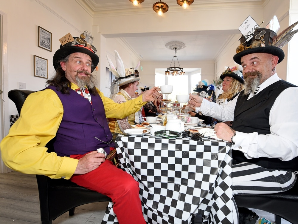 Mad Hatters? Steampunk lovers head to Cannock for Alice In Wonderland tea party - with pictures