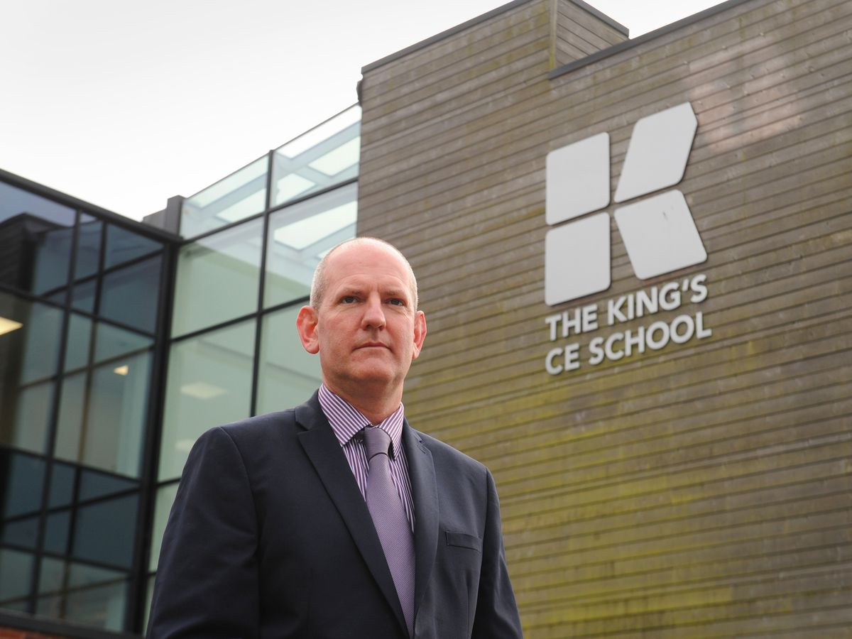 Principal James Ludlow, at The King's CE School, Tettenhall