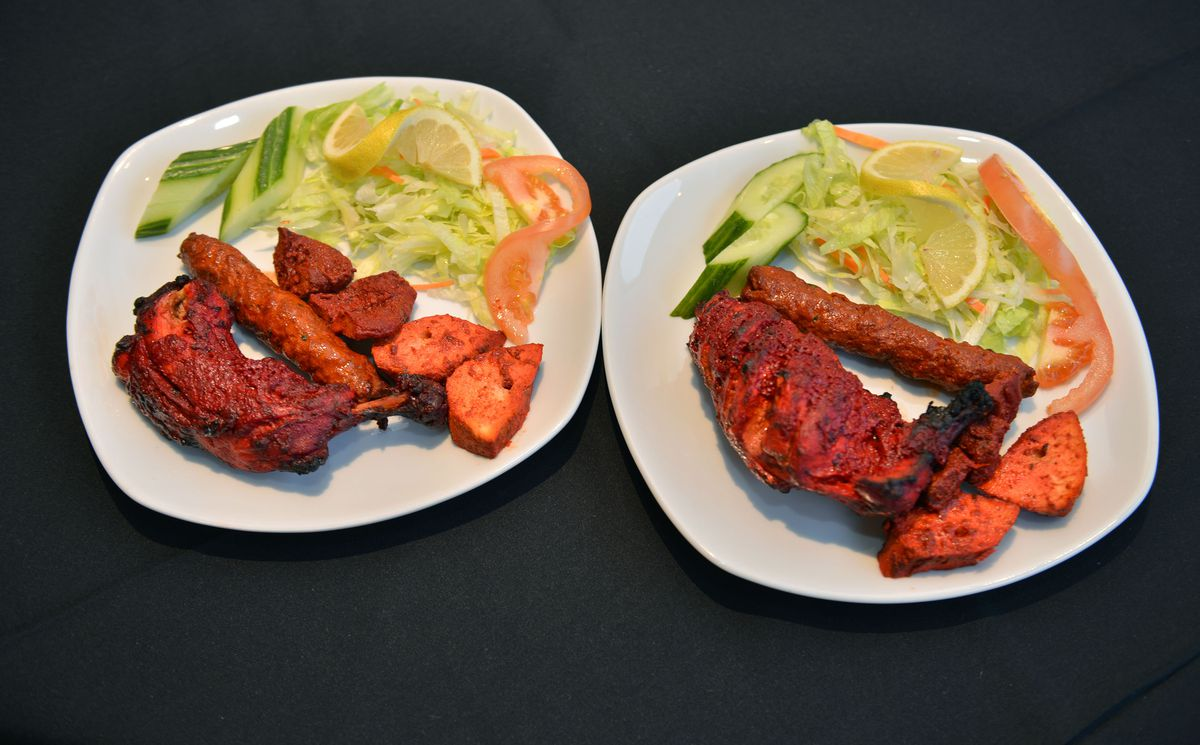 The chicken tikka platter was more than enough for two to share