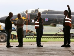 Iconic Cold War plane lands at RAF Cosford