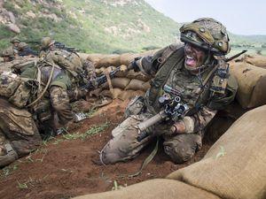 Under fire on the baked Kenyan savannahPhoto: Sergeant Deklan Traylor