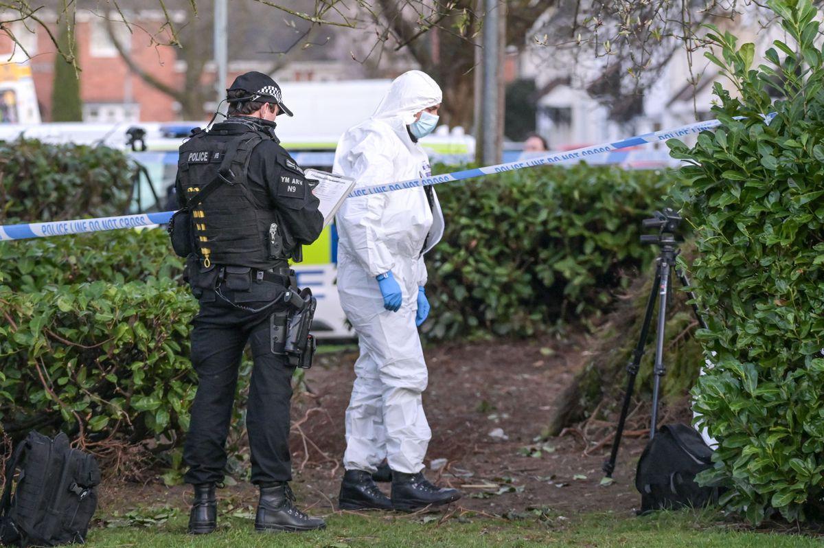 Police at the scene. Photo: Snapper SK
