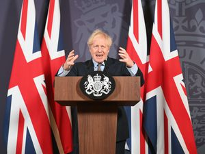 Prime Minister Boris Johnson during a media briefing to announce the deal