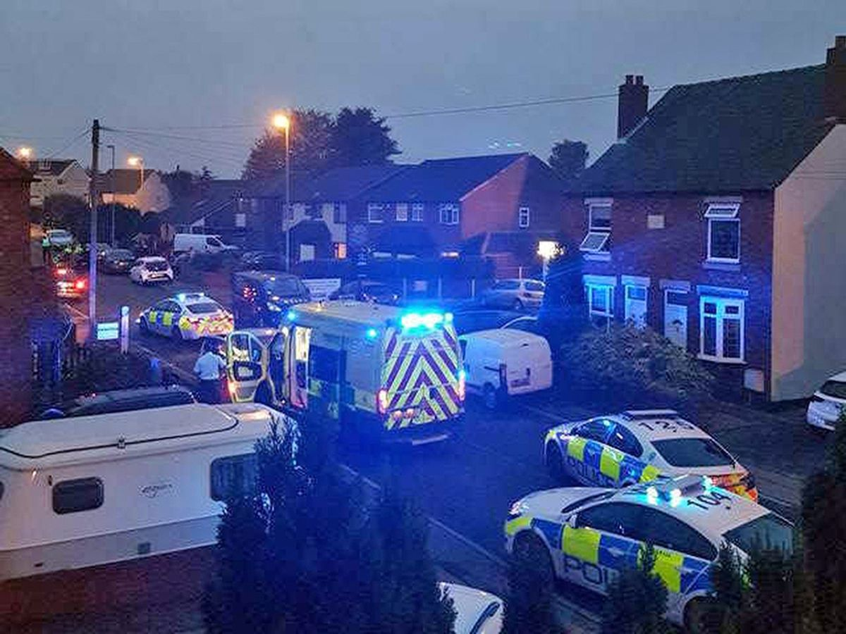 Scene after Renroy Johnson drove head on into an ambulance in Wilkin Road, Brownhills