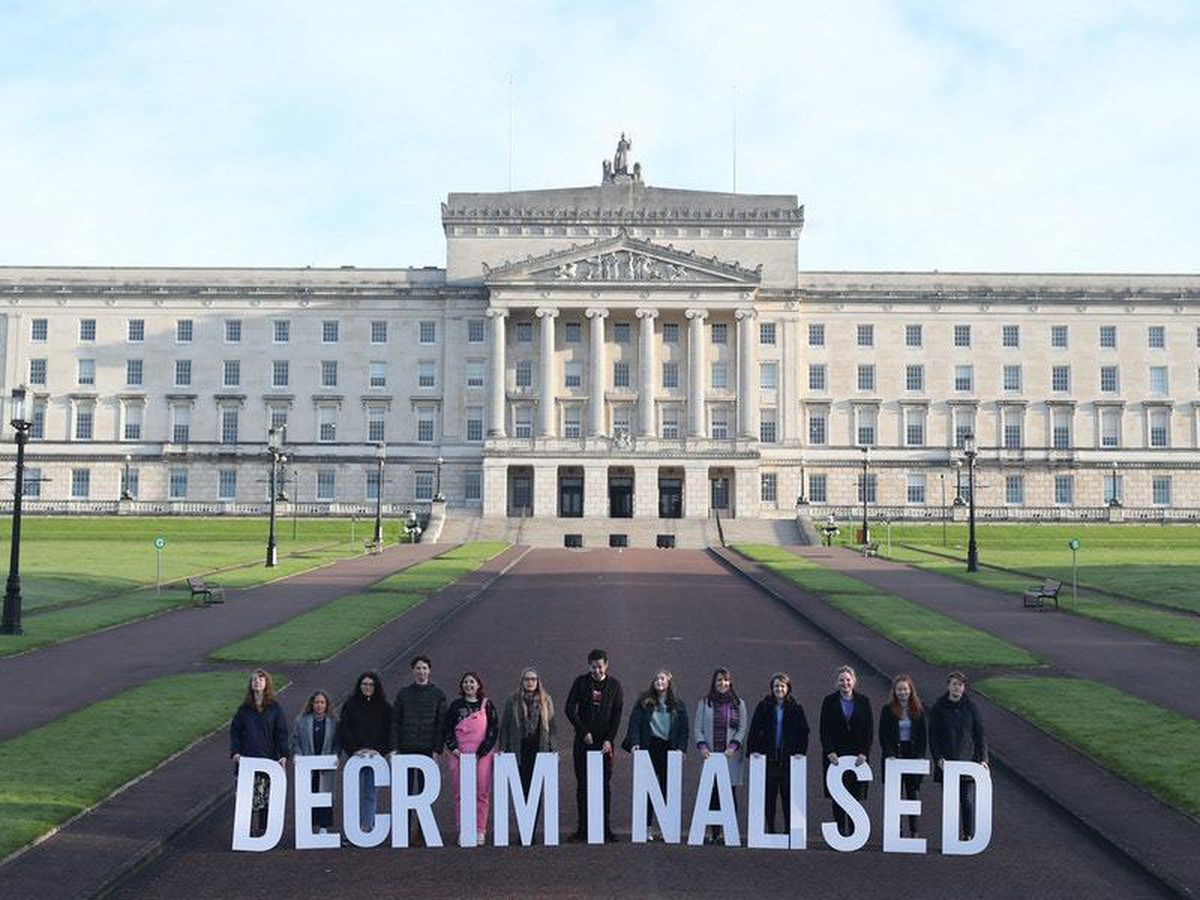 A pro-choice demonstration at Stormont