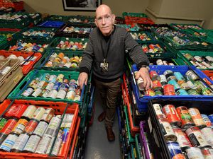 Paul Burns, an officer at homeless charity Housing First, at Good Shepherd Wolverhampton