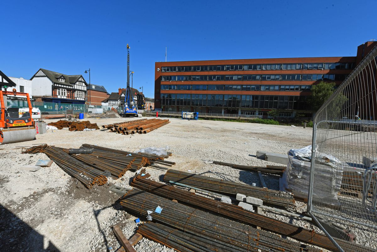 Work on the new 800-seat cinema complex in Stafford is now well under way on the former offices of the Express & Star