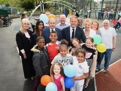 Kids get together in Heath Town estate for new playgrounds