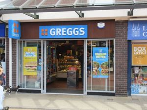 The Greggs bakery on Bakers Lane in Lichfield was hit by a robbery