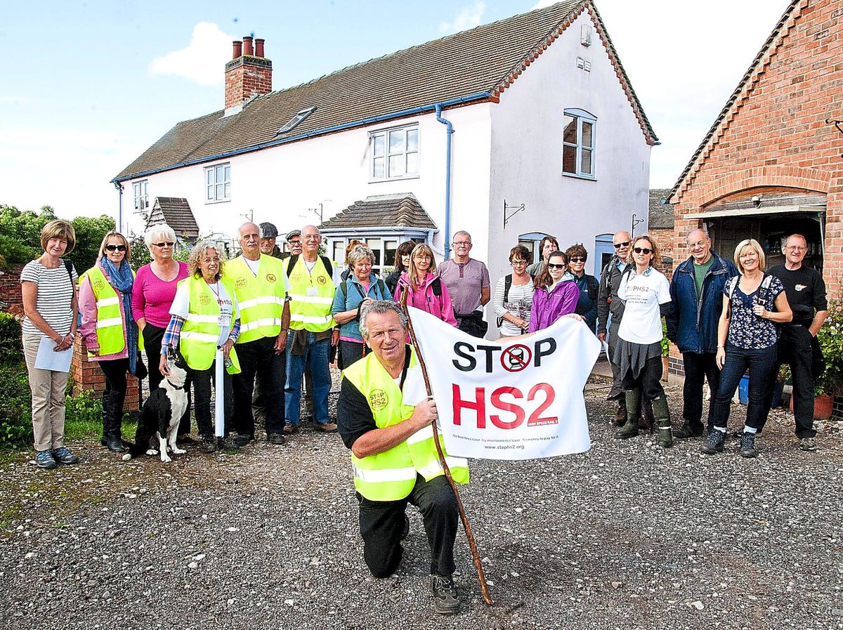 HS2 protest march at Kings Bromley