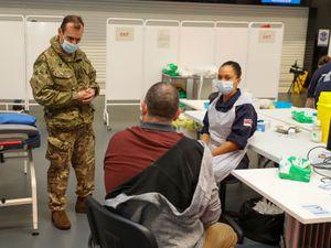 Royal Navy medics deliver Covid-19 vaccines in Bristol