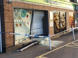 Ram-raiders on the loose after 4x4 driven through Co-Op window