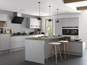 Strada matte painted light grey kitchen