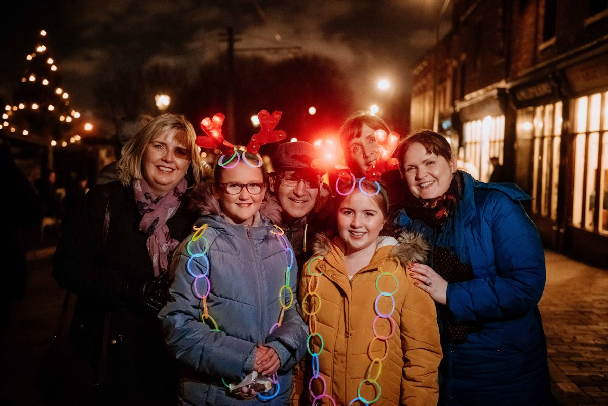One family gets into the spirit of things by dressing up for the Black Country Living Museum Christmas Nights event