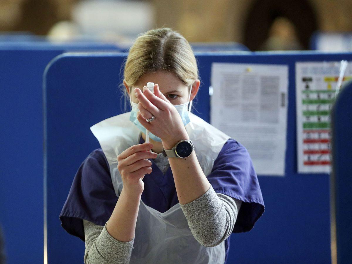 Coronavirus vaccines being prepared at Salisbury Cathedral, Wiltshire (Steve Parsons/PA)